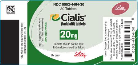 Tadalafil Package – Cialis 20 mg Tablets from Eli Lilly