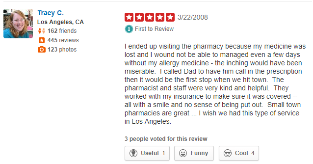 Medical Mall Pharmacy Customer Review
