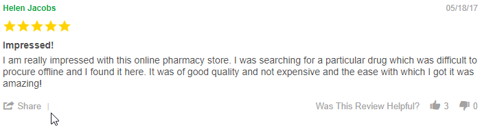 Canadian Pharmacy User Review