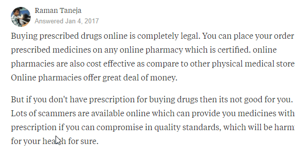 Purchasing Prescription Meds on the Web