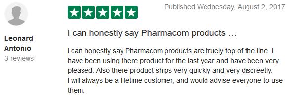 Pharmacom Store TrustPilot Reviews