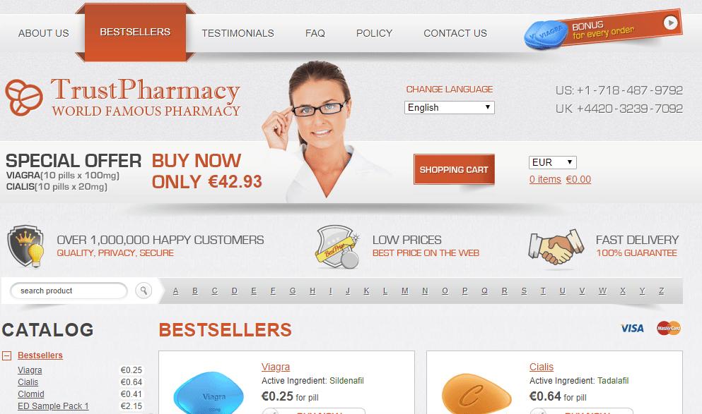 Trust Pharmacy Homepage Image
