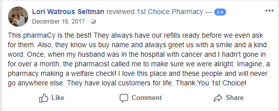 First Choice Pharmacy Reviews                                                                                                                                        Source: https://www