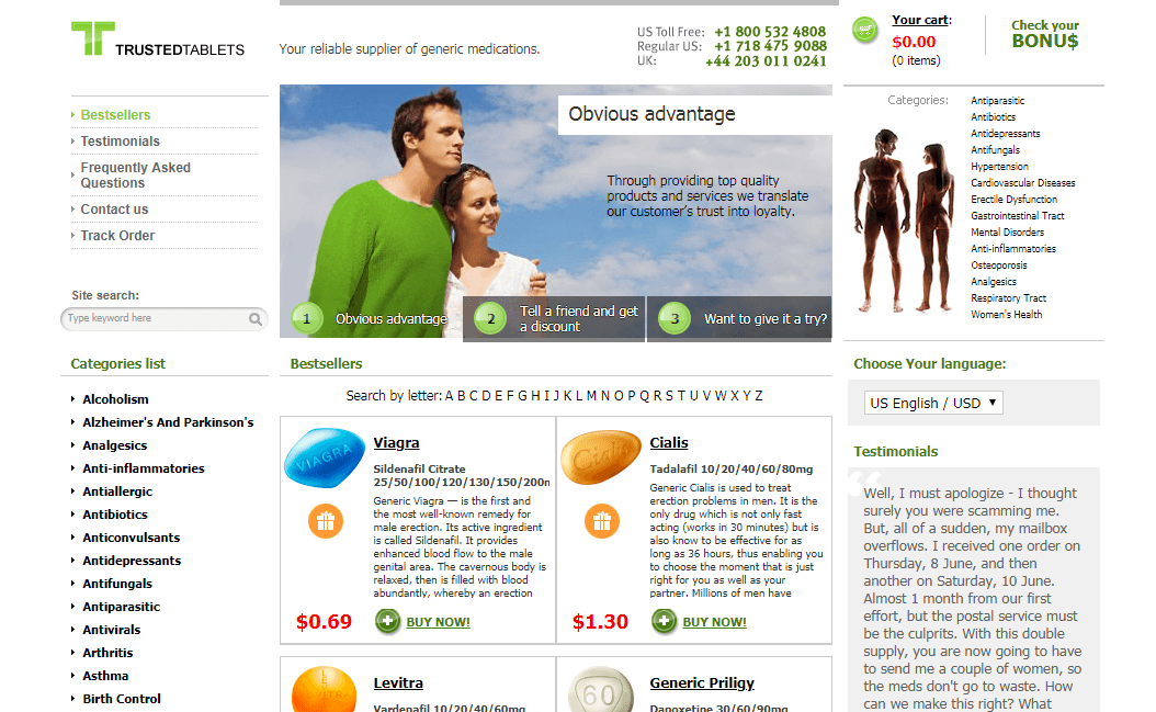 Reputable Online Pharmacies– Go with Trusted Tablets Pharmacy