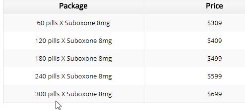 Suboxone 8 Mg Price