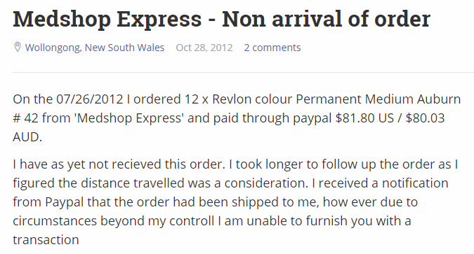 An Unsatisfied Customer with an Unclaimed Order