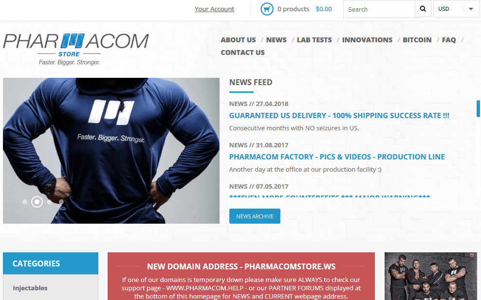 Pharmacom Store Website