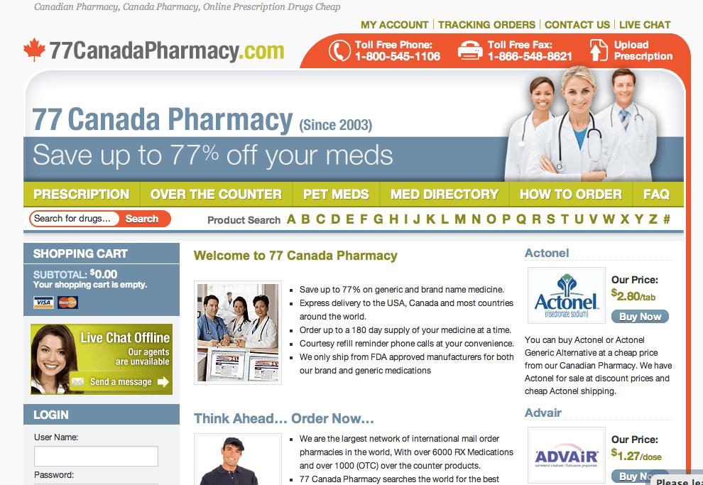 77canada Pharmacy