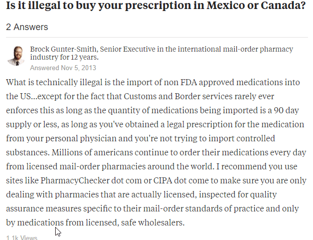 Canadian Drugs Legal