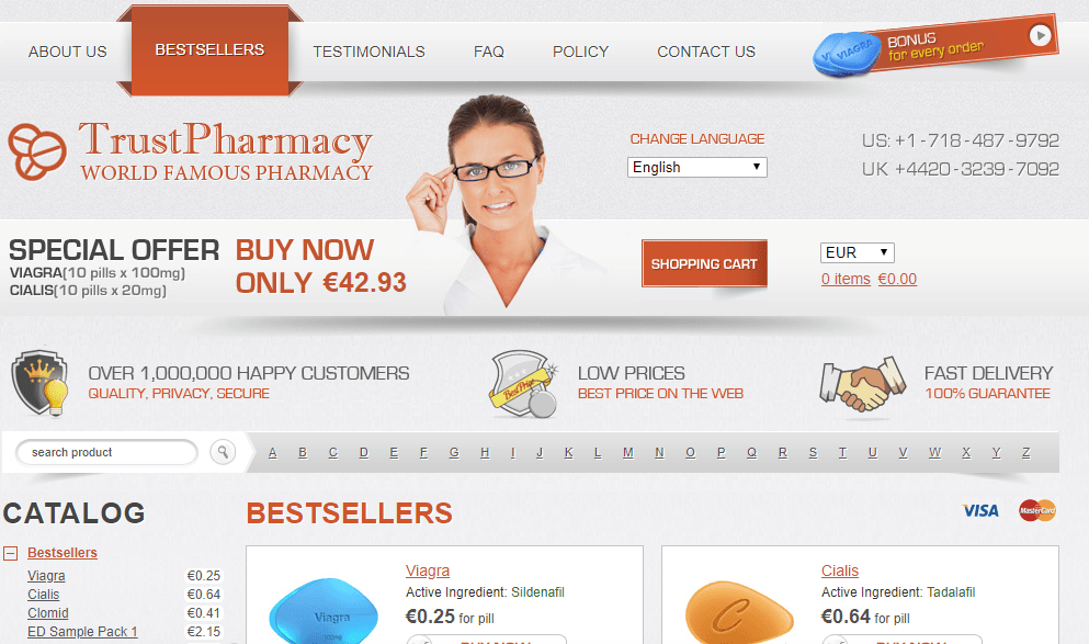 Trust Pharmacy Homepage Image