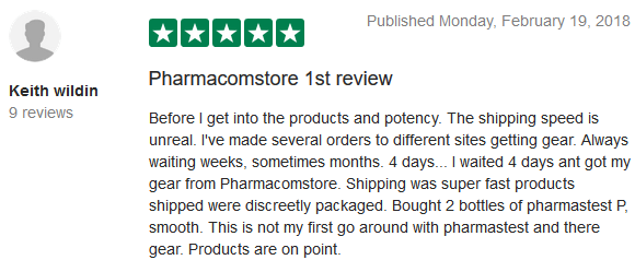 Pharmacom Store TrustPilot Reviews